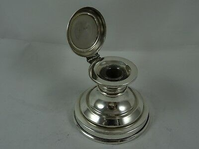 SOLID silver CAPSTAIN INK WELL, 1928