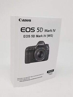 Canon EOS 5D Mark IV  Instruction Owners Manual Book NEW