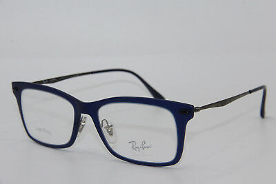 70aeb1c9f28 Brand New Ray-Ban Rb 7039 5451 Blue Eyeglasses Authentic Frame Rx Rb7039 53-