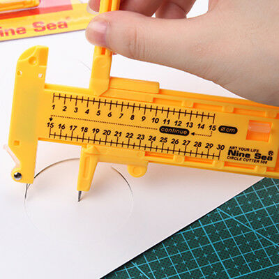 Rotary Compass Circle Cutter Paper Cardboard Rubber Vinyl Leather Art Craft Tool