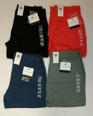 NEW Womens Calvin Klein Linen Blend Classic Shorts - Choose Size/Color