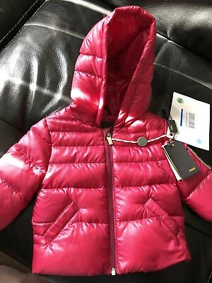 Fendi baby down  jacket,plum colour,authentic, nwt,0-3months