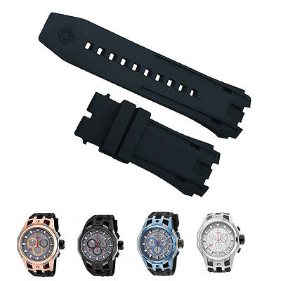 New Black Rubber Watch Band Strap For Invicta S1 Rally Chronograph