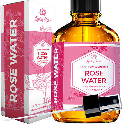 Rose Water Facial Toner by Leven Rose – Moroccan Rosewater Hydrosol - 4 oz
