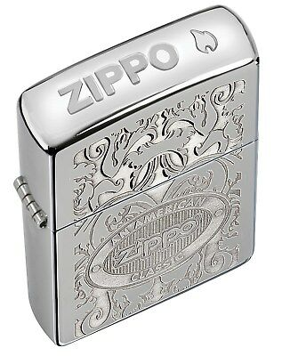 Zippo Lighter: American Classic, Crown Stamp - High Polish Chrome 24751