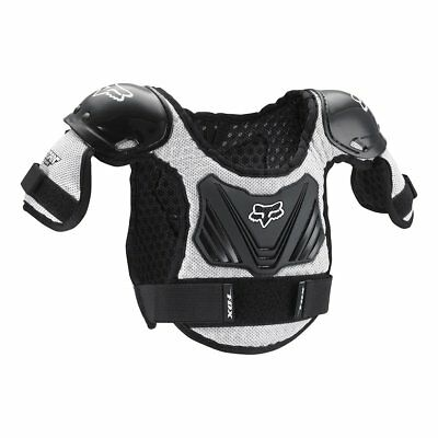 Fox Racing Peewee Titan Youth Roost Deflector Black/Silver-M/L Ages 6-9