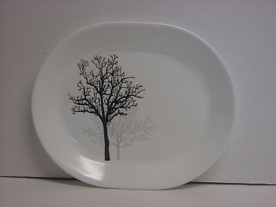 "Corelle Timber Shadows Serving Platter 12-1/4"" x 10"" Made in USA New"