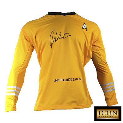 William Shatner Signed Autograph Star Trek Captain Kirk Shirt Uniform Psa/dna