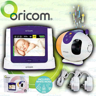 """Oricom Secure 870 3.5"""" Touchscreen 2.4Ghz Video Baby Monitor + Starry Lightshow"""