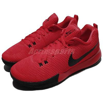 9ba9c89186d4 Nike Zoom Live II EP 2 Low University Red Black Men Basketball Shoes AH7567 -600