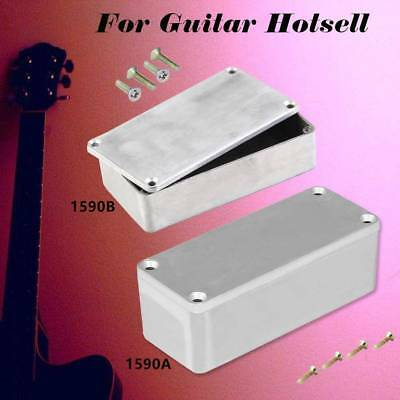 1590B Style Aluminum Musical Stomp Box Pedal Enclosure For Effect Guitar Silver