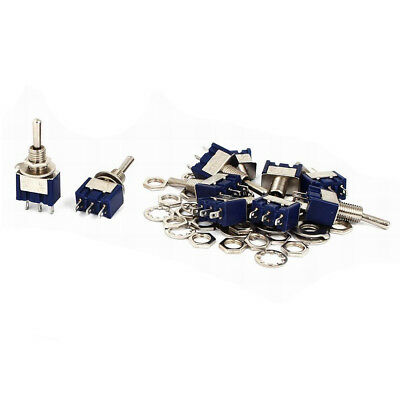 10Pcs AC 125V 5A SPDT ON-OFF-ON Latching Miniature Toggle Switch Blue K5L2 Y6Y3