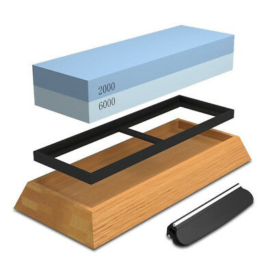 Sharpening Stone For Knives, Professional Waterstones Combination Grit 2000 U8D2