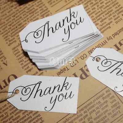 Wholesale 100PCs/Bag Paper Label Tag Word Thank You Clothes Jewelry Price Tag