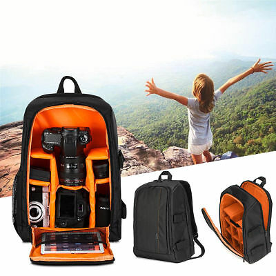 Waterproof Multi-function DSLR Camera Shoulder Bag Backpack Case For Canon&Nikon