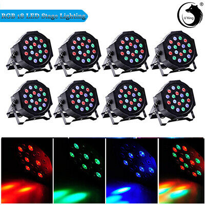 8PCS 54W 18LED Par RGB DMX512 Mixing Color Stage Lighting WeddingParty Effect DJ