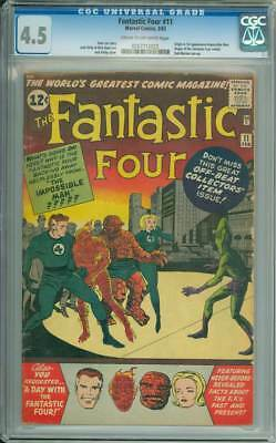 Fantastic Four # 11  The Impossible Man !  CGC 4.5 scarce book !