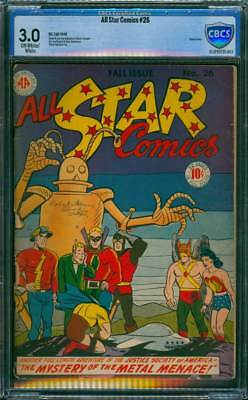 All-Star Comics # 26  The Mystery of the Metal Menace !  CBCS 3.0 scarce book !