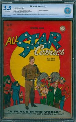 All-Star Comics # 27  A Place in the World !  CBCS 3.5 scarce book !