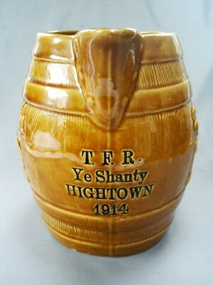 Rare Ww1 Territorial Force Reserves/t.f.r Ye Shanty Hightown 1914 Ale/beer Jug
