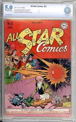 All-Star Comics # 31  The Globe-Being from Space !  CBCS 5.0 scarce book !