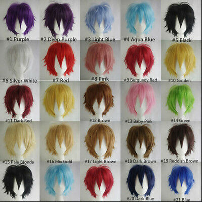 2018 HOT SELL! Fashion Straight Short Full Wigs Cosplay Party Hair Wigs WQ07