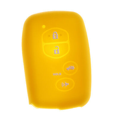 Car Keyless Entry Remote Smart Key Case Cover For Toyota Camry Yellow