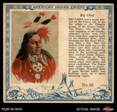 1952 Red Man American Indian Chiefs #23 Big Chief VG/EX