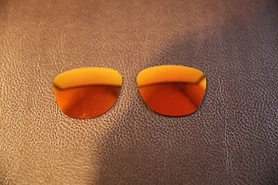 PolarLens POLARIZED Fire Red Iridium Replacement Lens for-Oakley Frogskins