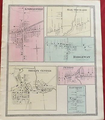 Knowlesville East Shelby Center Ridgeway Jeddo Oak Orchard Orleans Co NY Map