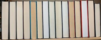 Job lot box of 15 books; hardback with 400-450 pages, suitable for BOOK FOLDING