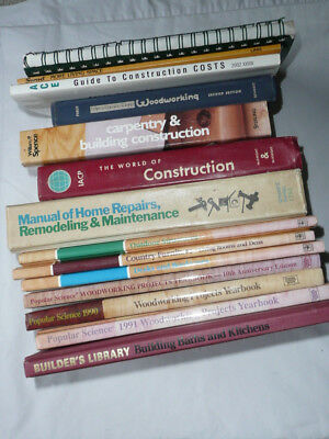 Lot of 16 Woodworking, Carpentry, Remodeling, Matinance & Construction books