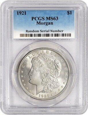 1921 $1 Morgan Silver Dollar PCGS MS63