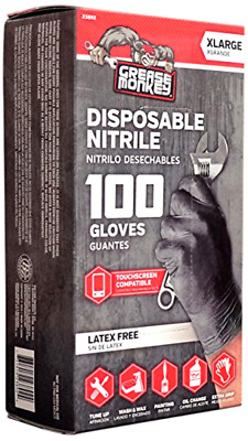 Big Time Products Grease Monkey Disposable Nitrile Gloves X-Large - Pack of 100