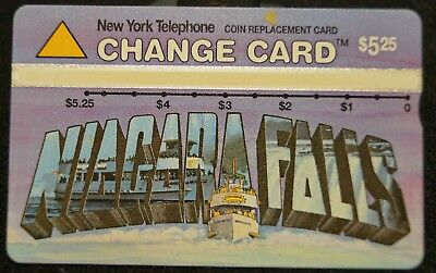 Vintage New York Telephone NYNEX $5.25 Change Phone Card - Niagra Falls