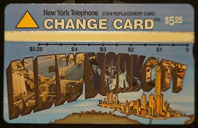 Vintage New York Telephone NYNEX $5.25 Change Phone Card - New York City