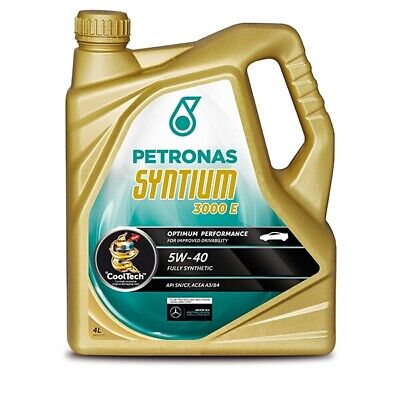 Car Engine Oil Petronas Syntium 3000 5W40 Synthetic 4L VW /For BMW Spec 4 Litres