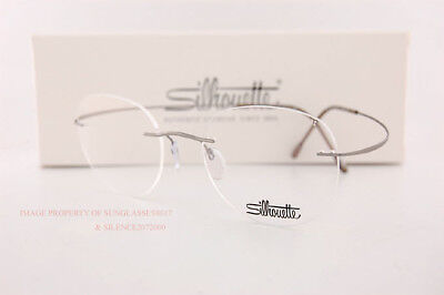 e0f5207ebc61 New Silhouette Eyeglass Frames TMA Must Collection 5515 CN 7110 Grey Titan  48