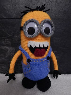 despicable me crochet minion [large ]