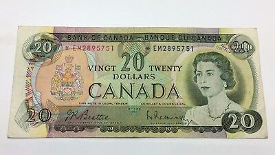 1969 Canada Twenty 20 Dollars *EM Series Circulated Replacement Banknote C834