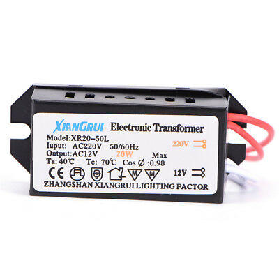 M&C 20W AC 220V to 12V  LED Power Supply Driver Electronic Transformer