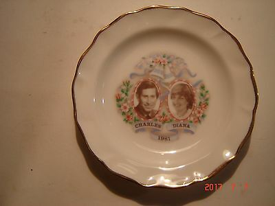 Charles and Diana 1981 Fine Bone China Plate to Commemorate The Marriage of