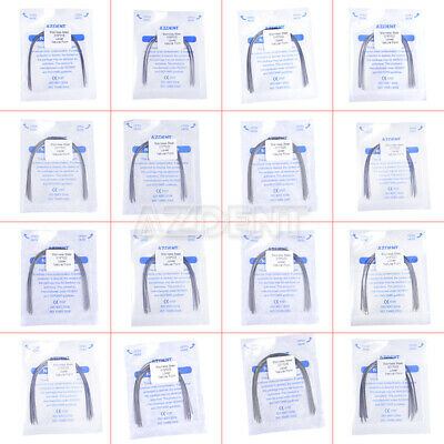 Orthodontic Dental Stainless Steel Natural Form Rectangular Arch Wires 10pcs/Bag