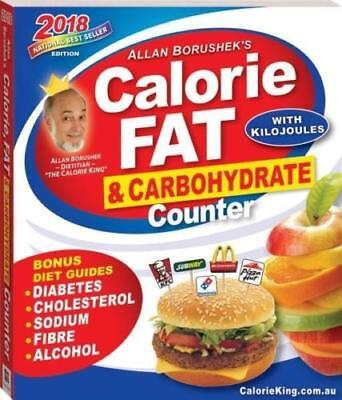 Allan Borushek's Calorie Fat and Carbohydrate Counter 2018 Paperback Book NEW