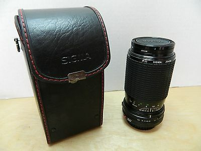 SIGMA 80-200mm f:4.5-5.6 ZOOM LENS for CANON w/CASE and CPC PHASE 2 52mm FILTER