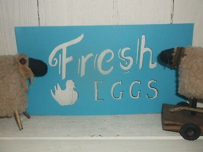 NEW Primitive Vintage look FRESH EGGS Hen Chicken STENCIL chalkboard old style