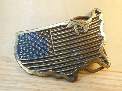 Great American Buckle Co United States Belt Buckle #1806 Made in USA 1986