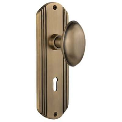 Nostalgic Warehouse 705508 Homestead Solid Brass Privacy Knob Set with Deco Rose