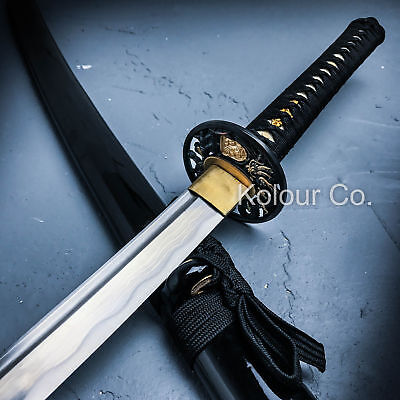 Handmade Japanese Katana Samurai Sword 10 Fold Carbon Steel Sharp Blade w/Sheath