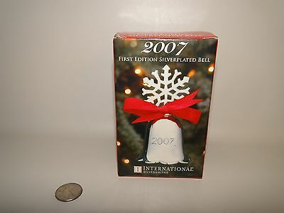 2007 Silverplate Snowflake Christmas Bell By International Silversmith's
